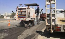 إعادة سفلتة طريق باشوت